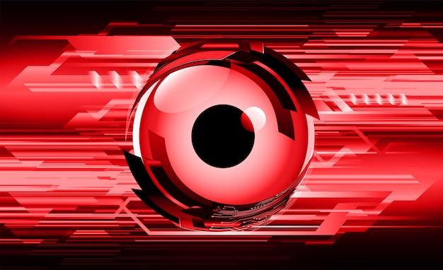 Rode ogen cyber circuit toekomst technologie concept achtergrond