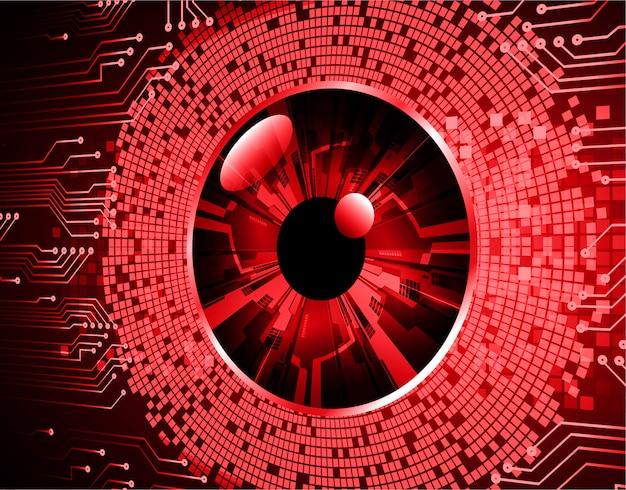 Rode ogen cyber circuit toekomstige technische achtergrond