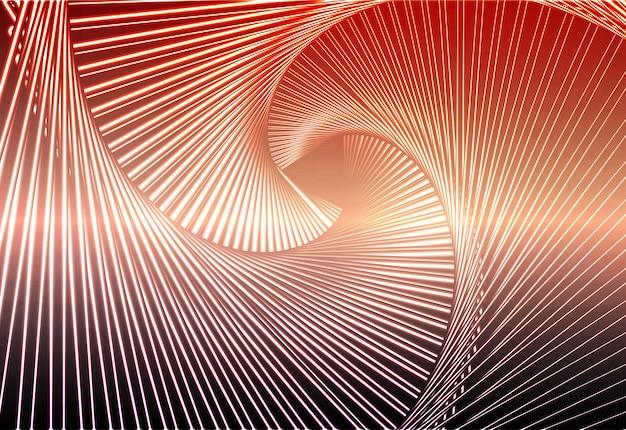 Rode oranje paarse gloeiende spiraalvormige achtergrond