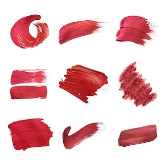 Rode penseelstreken collectie