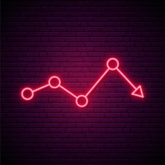 Rode pijl neon teken.