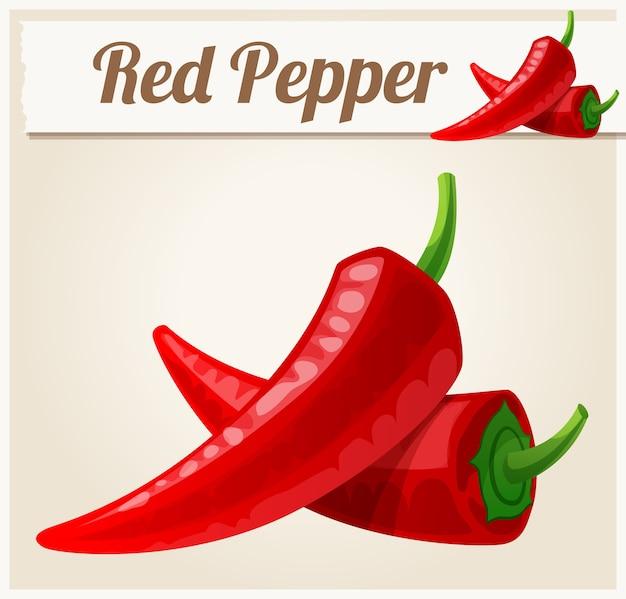 Rode pittige paprika's.
