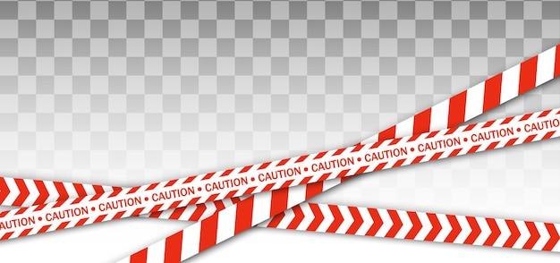Rode politielijn waarschuwingstape