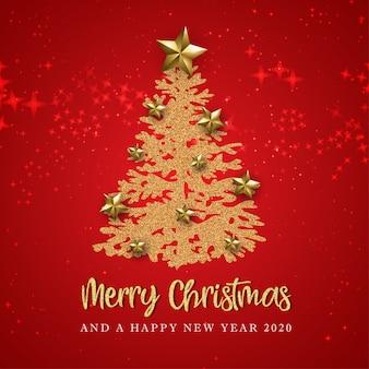 Rode prettige kerstdagen en gelukkig nieuwjaar wenskaart