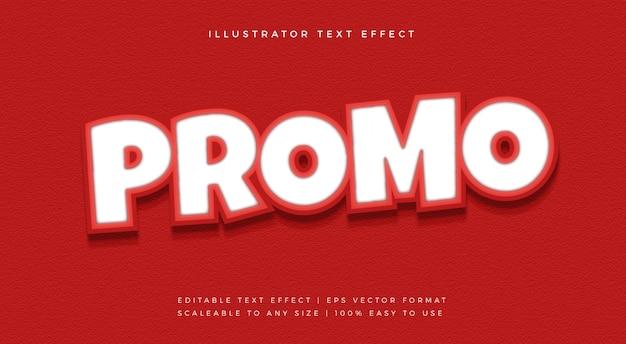 Rode promotie uitgesneden tekststijl lettertype-effect