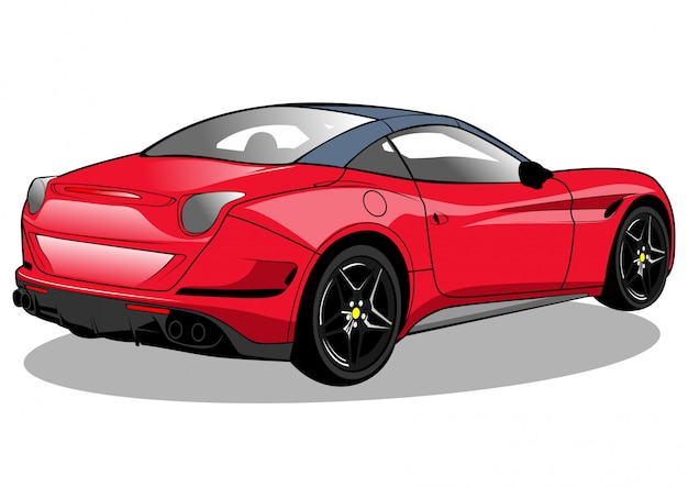 Rode raceauto californië illustratie