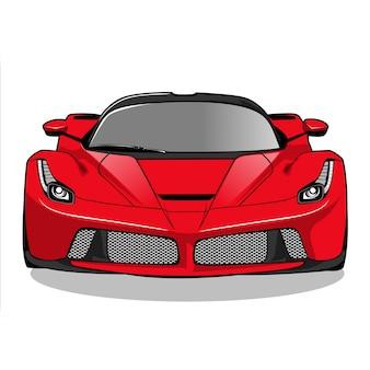 Rode raceauto