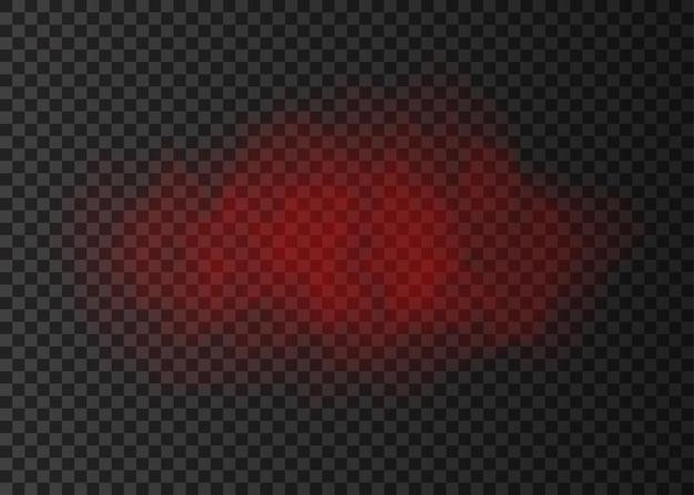 Rode rookwolk geïsoleerd op transparante achtergrond. stoomexplosie speciaal effect. realistische vectorbrandmist of misttextuur.