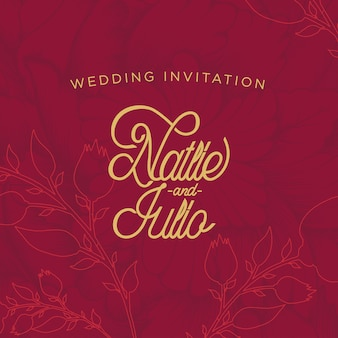 Rode roos bruiloft uitnodigingskaart
