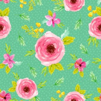 Rode rozen aquarel naadloze patroon