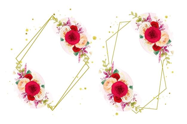 Rode rozen bloemen krans