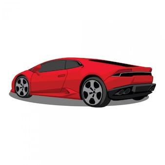 Rode sportwagen illustratie