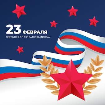 Rode ster vaderland verdediger rusland dag