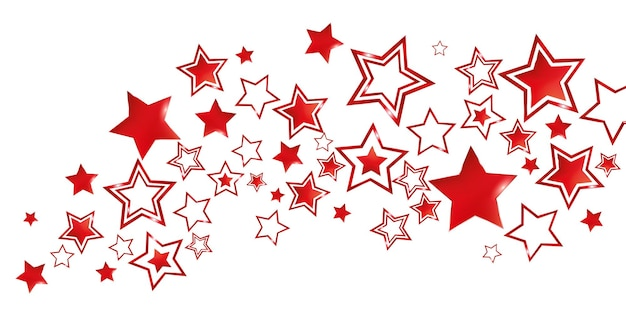 Rode sterren feestelijke partij achtergrondillustratie