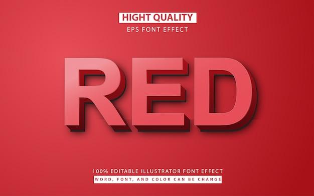 Rode teksteffect