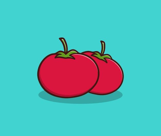 Rode tomaten hand tekenen illustratie