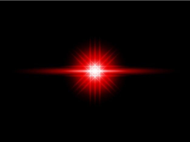 Rode transparante achtergrond lens flares pack