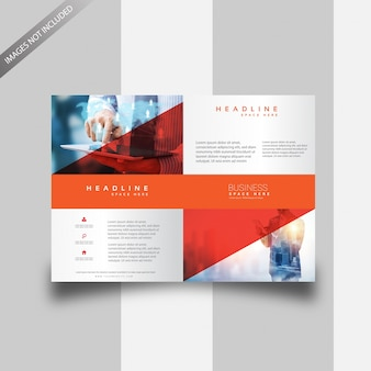 Rode tweevoudige brochure vector