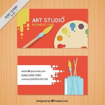 Rode visitekaartje, art studio