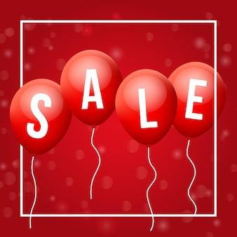 Rode vliegende ballonnen, met verkoopbrieven