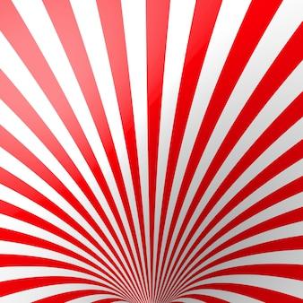 Rode volumetrische gestreepte achtergrond.