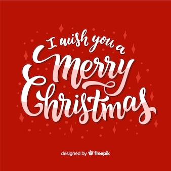 Rode vrolijke kerst belettering