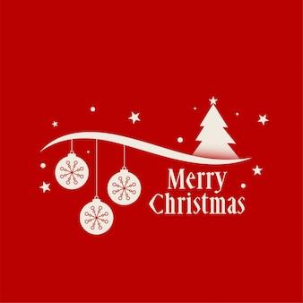 Rode vrolijke kerstmis achtergronddecoratiegroet