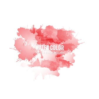 Rode waterverf splash achtergrond
