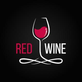 Rode wijn illustratie