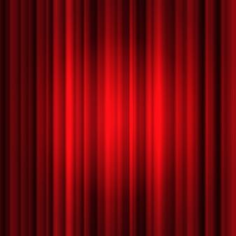 Rode zijden gordijnachtergrond