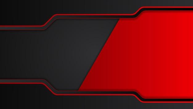 Rode zwarte abstracte metalen frame lay-out ontwerp tech innovatie concept achtergrond