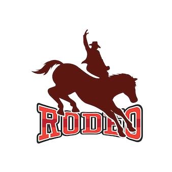 Rodeo-logo voor uw sportactiviteit