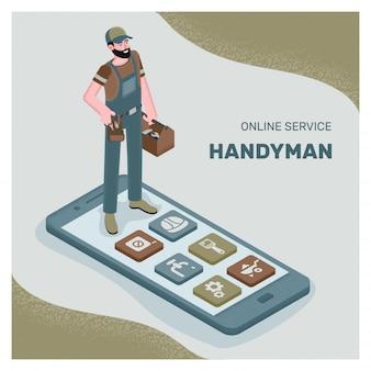 Roep de servicewizard op met behulp van de telefoon