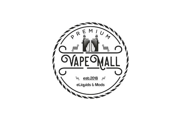Roken e-sigaret thema met vintage afbeelding