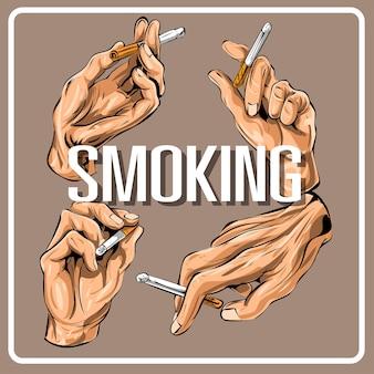 Roken hand vormt