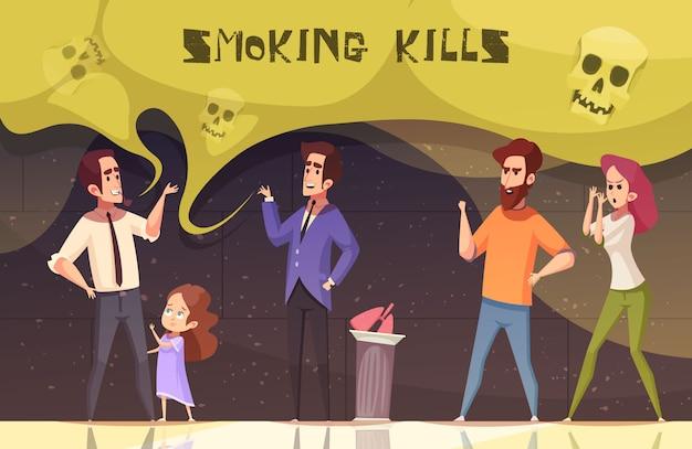 Roken is dodelijk vectorillustratie