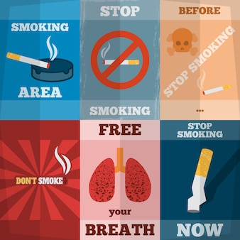 Roken mini-posterset