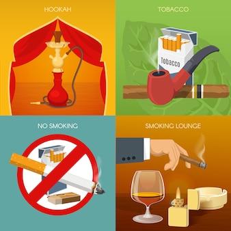 Roken van tabakssamenstellingen