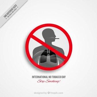 Roker met grijs longen achtergrond