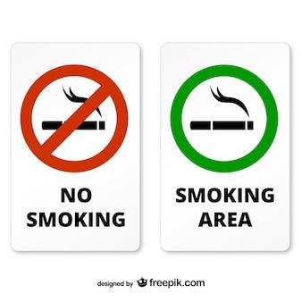 Rokers en niet-rokers zone borden