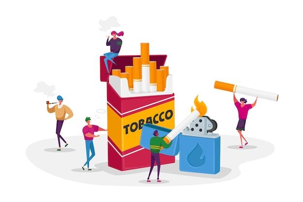 Rokers en rookverslaving concept