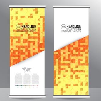 Rol het ontwerp van de de brochurebanner van de bedrijfsbrochure op