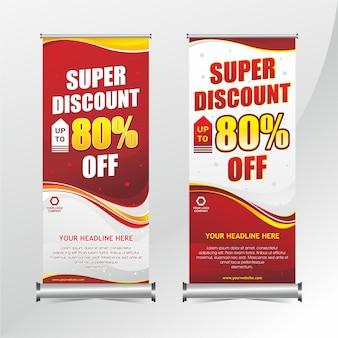 Roll-up banner korting ontwerp