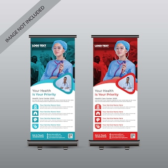 Roll up banner medical