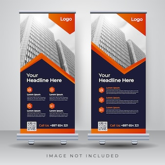 Roll-up banner ontwerpsjabloon