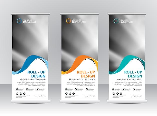 Roll-up banner stand sjabloonontwerp