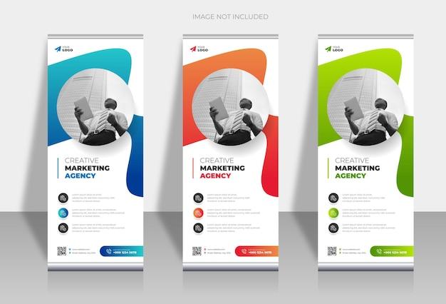 Roll-up display standee-sjabloon voor presentatiedoeleinden en reclame