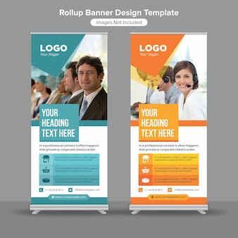 Roll-up standee-bannersjabloon