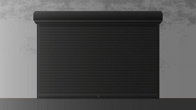 Rolluik voor raam 3d. gesloten rolluik voor een raam. realistische vector.