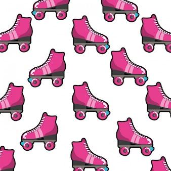 Rolschaatsen patroon geïsoleerd pictogram